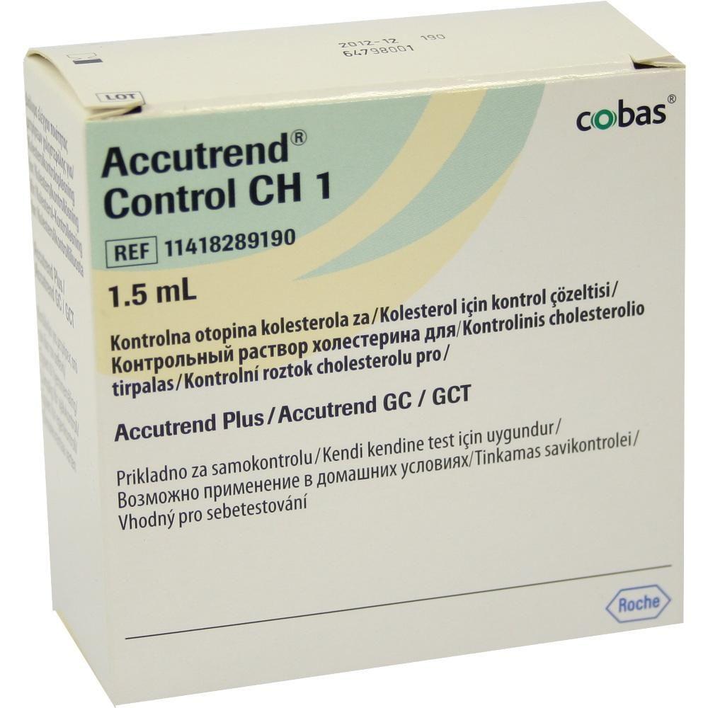 ACCUTREND Control CH 1 Lösung:   Packungsinhalt: 1X1.5 ml Lösung PZN: 04653147 Hersteller: Roche Diagnostics Deutschland GmbH Preis:…
