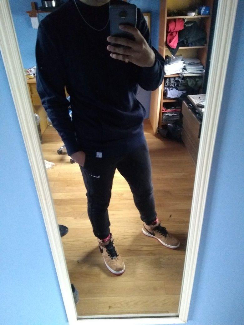 Adidas Oscuro Azul Buzo Zapatillas Force Nike Joggin Pantalón Air WI9ED2YH