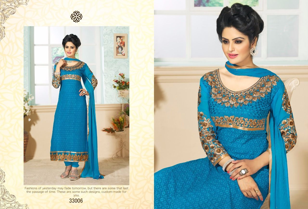Georgette Embroidered Semi Stitched Straight cut Suits...@1750/- Free Shipping in India For Orders..Whatsapp or Call us @ 8861568859 Mail id: salwarstyles@gmail.com