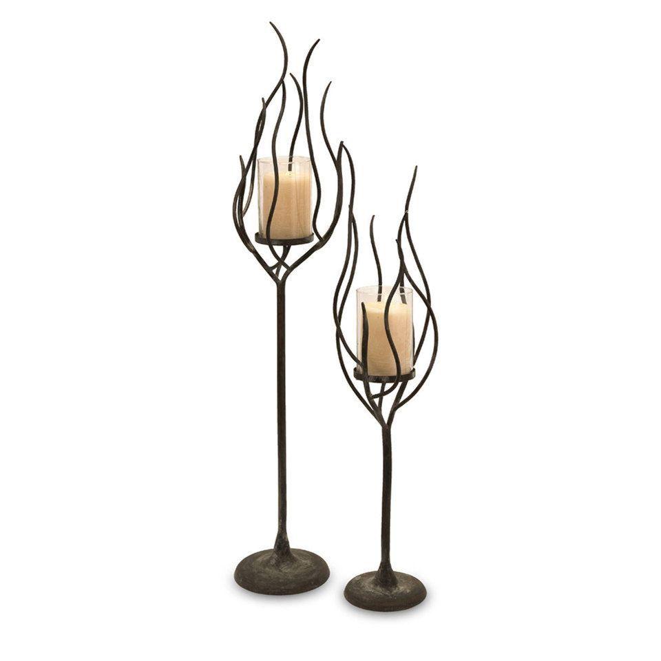 Set of two anemone candle holders for the home pinterest