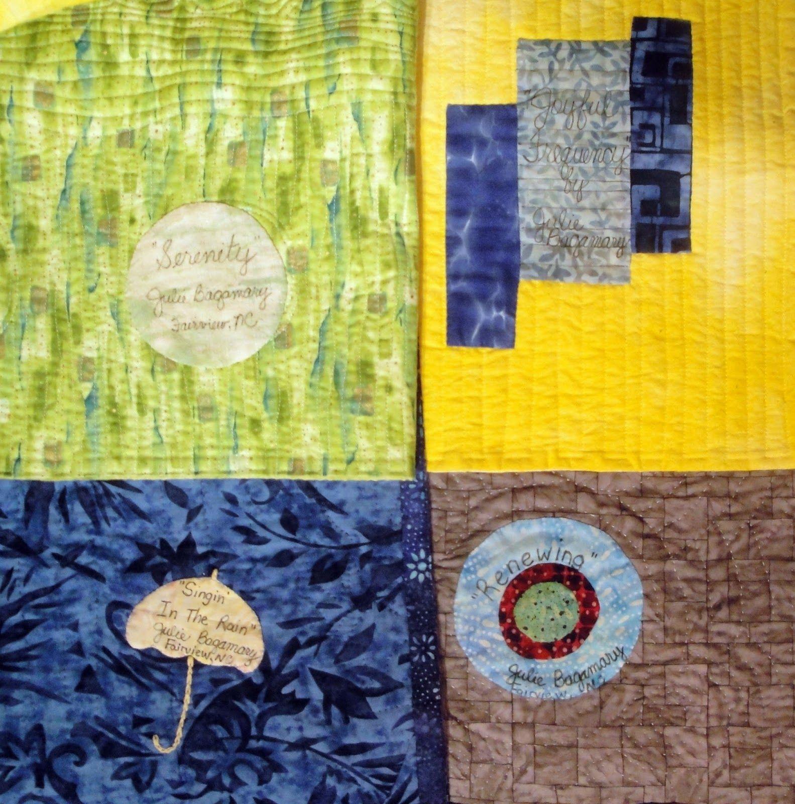 Julie Bagamary Art Asheville Quilt Guild Show Gallery 2015 Art