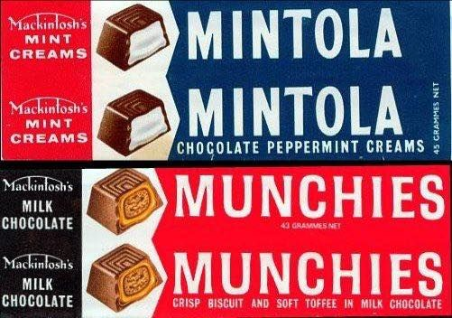 Mackintosh's Mintola and Munchies wrappers