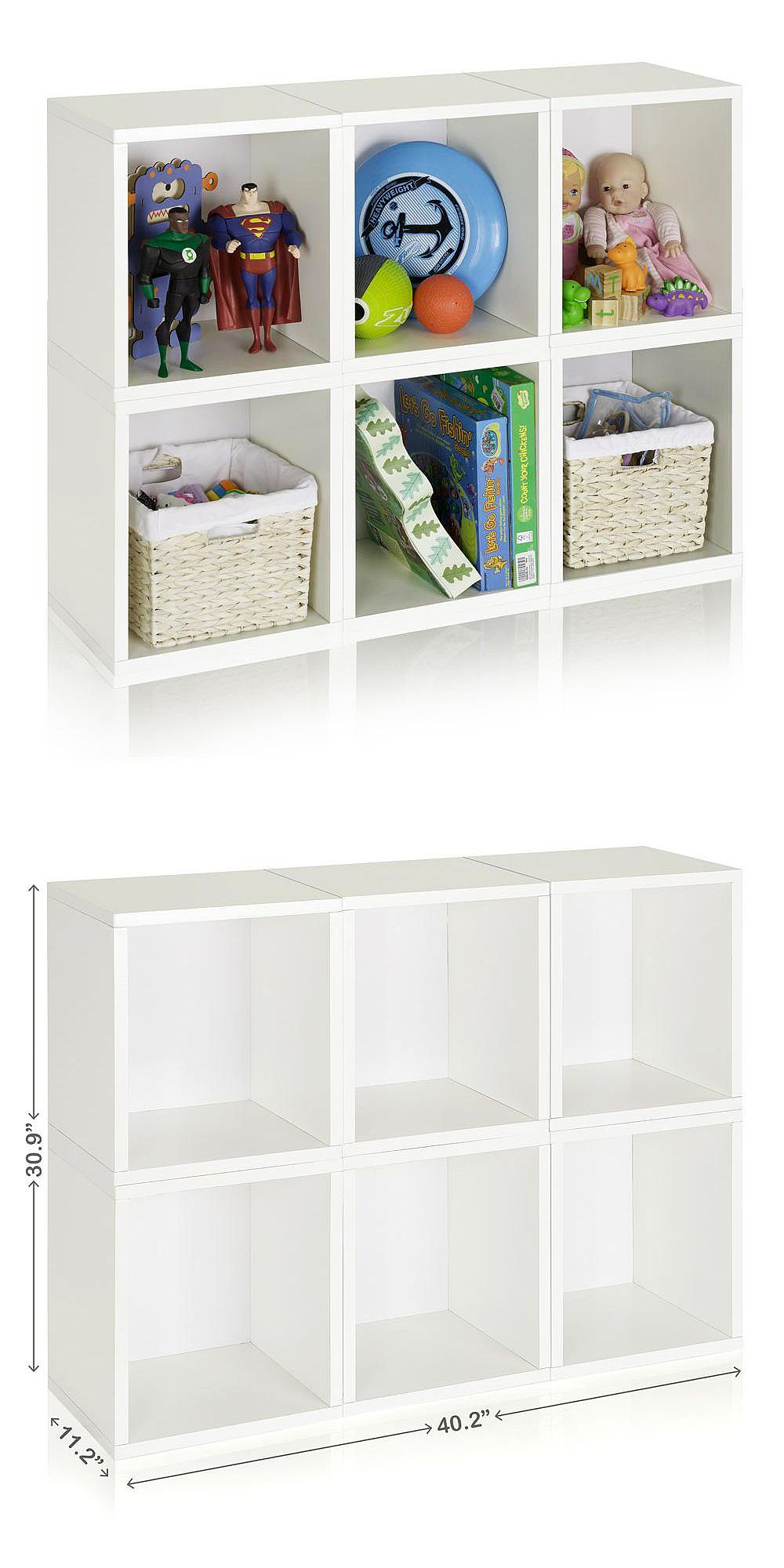 Way Basics Valencia 6 Cubes zBoard Stackable Modular Storage Cubby