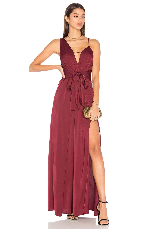 Kesen maxi dress burgundy stylestalker pinterest maxi dresses