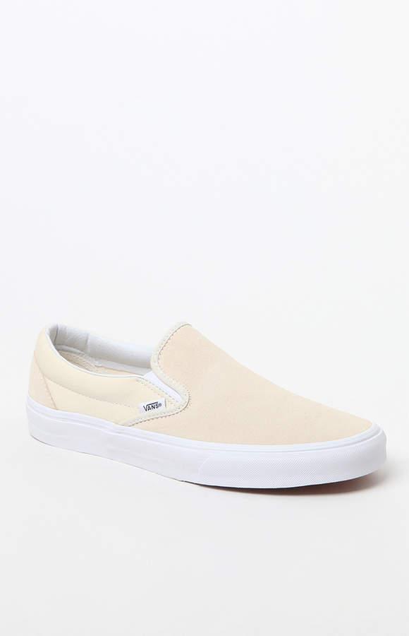 Vans Classic Light Yellow Slip-On Shoes