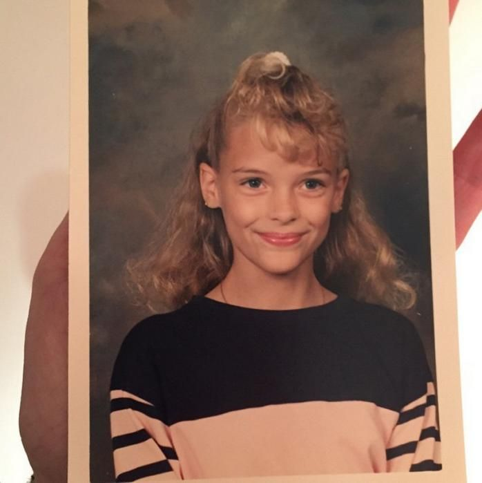 Jaime King at the age of 10.