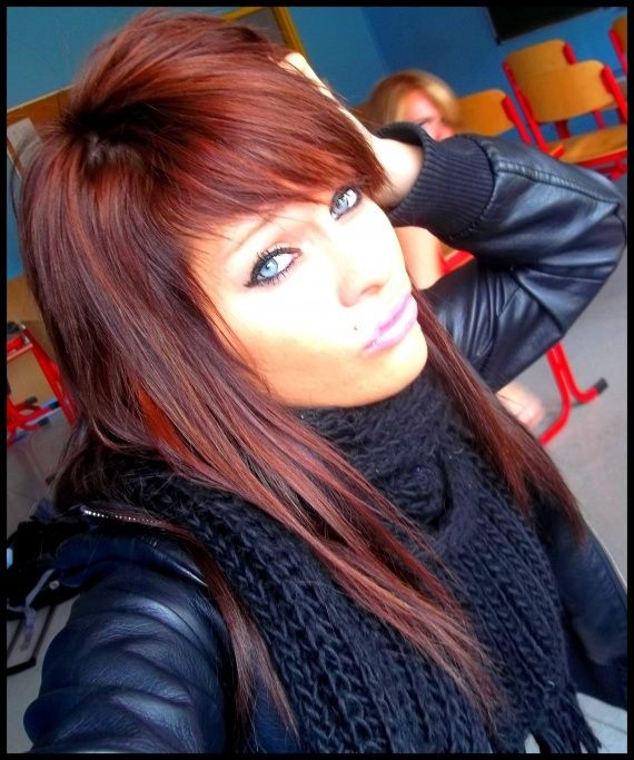 1000 images about cheveux on pinterest copper highlights and balayage - Coloration Acajou Rouge