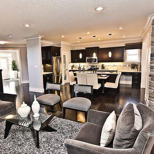 Open Concept Kitchen Living Room Paint Colours Design Ideas