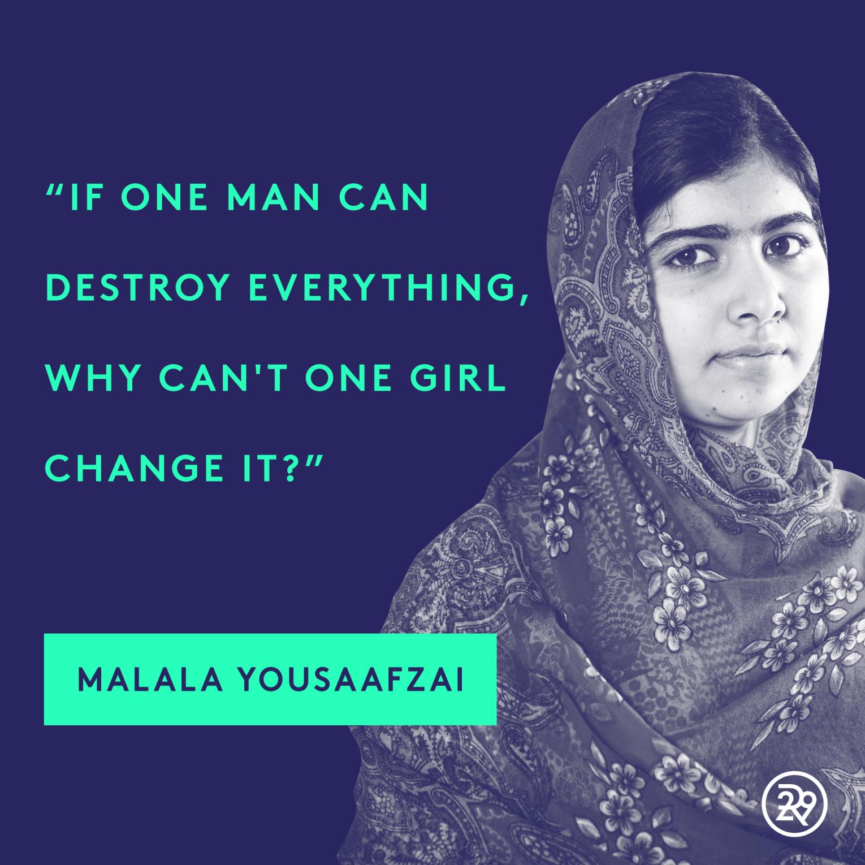 Malala Yousafzai INSPIRED WALL ART Print Poster A4 A3 Inspirational quotes