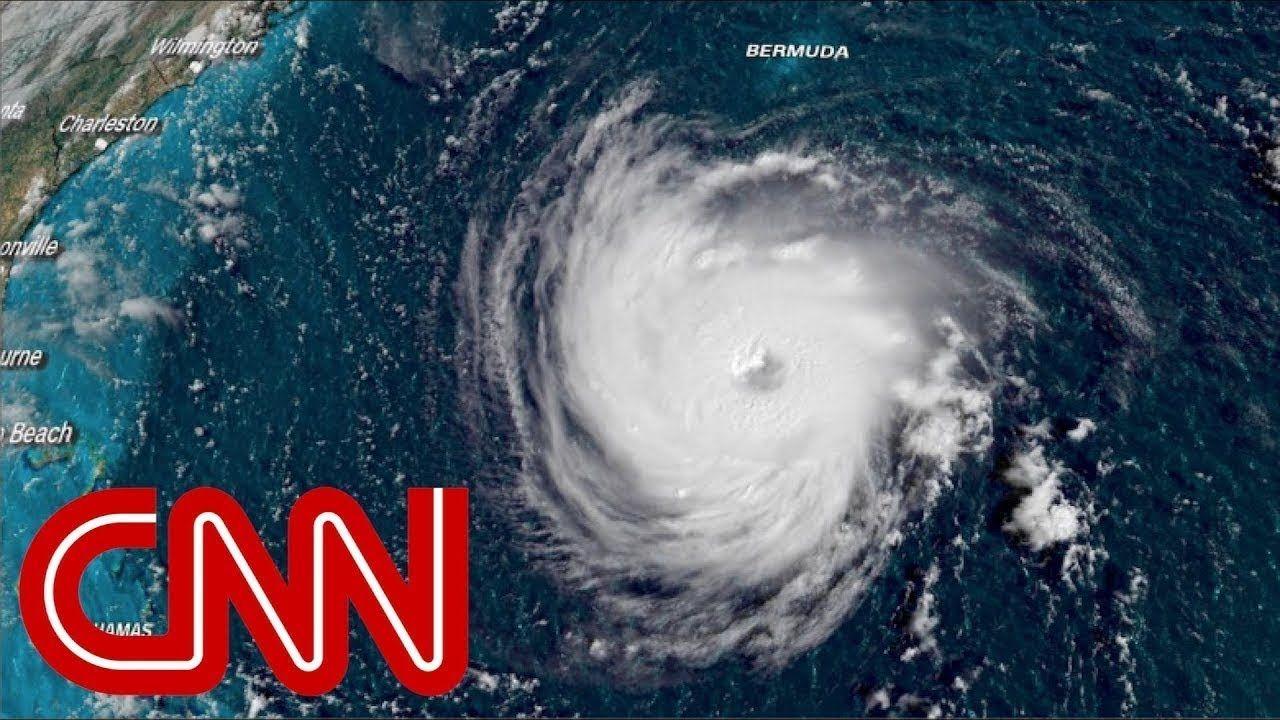 Hurricane Florence Causes Huge Waves In North Carolina Footage From Su Hurricane Digital Huge Waves