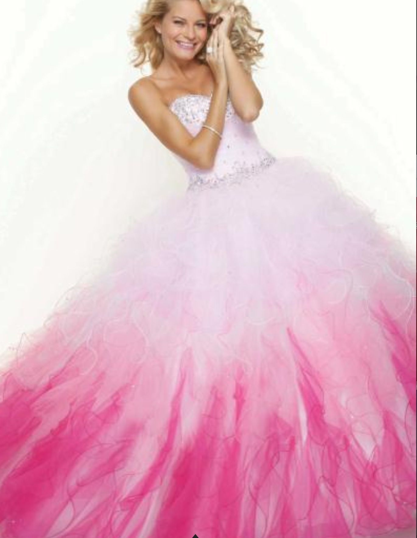 Feathered puffy gown | Prom dresses | Pinterest