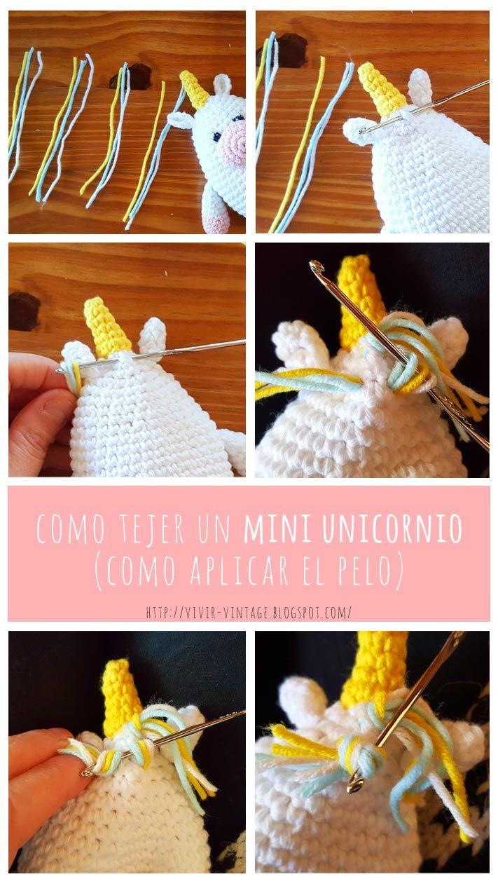 como tejer crochet amigurumi patron gratis mini unicornio | Amiguri ...
