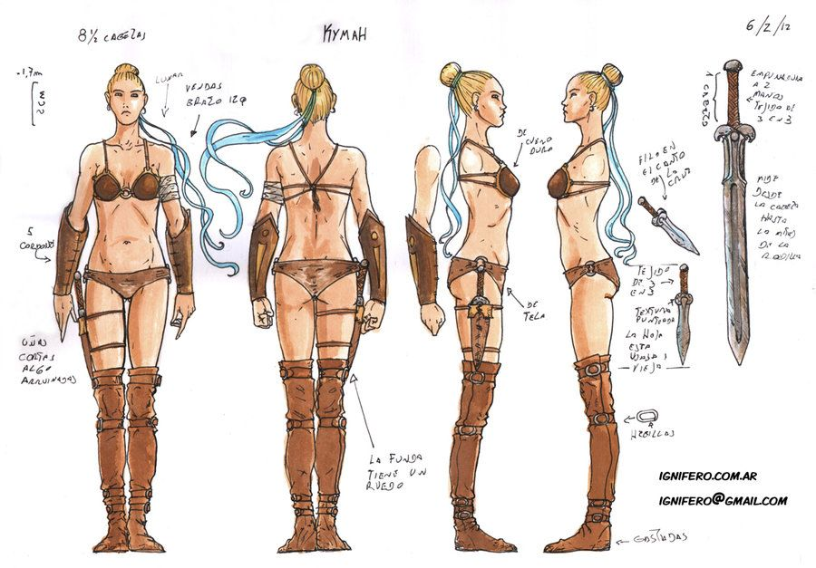 Character Design Reference Photos : Character sheets full body kymah by ignifero viantart