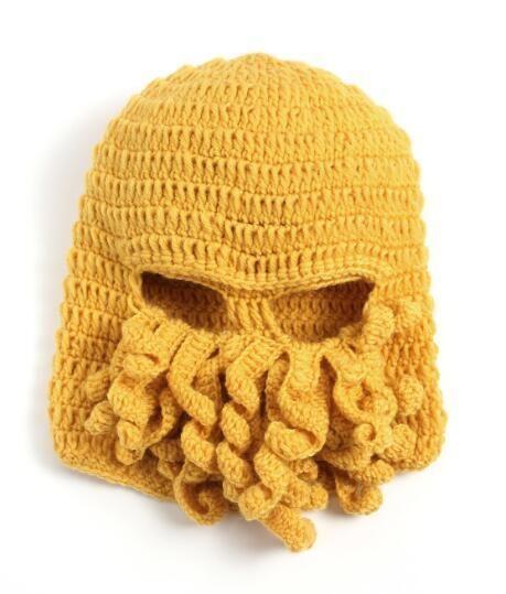 BomHCS Tentacle Octopus Cthulhu Knit Beanie Hat Cap Wind Mask ... c9d9beb8bd64