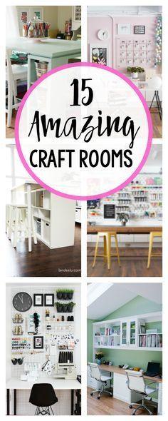 15 Fun & Amazing Craft Room Ideas images