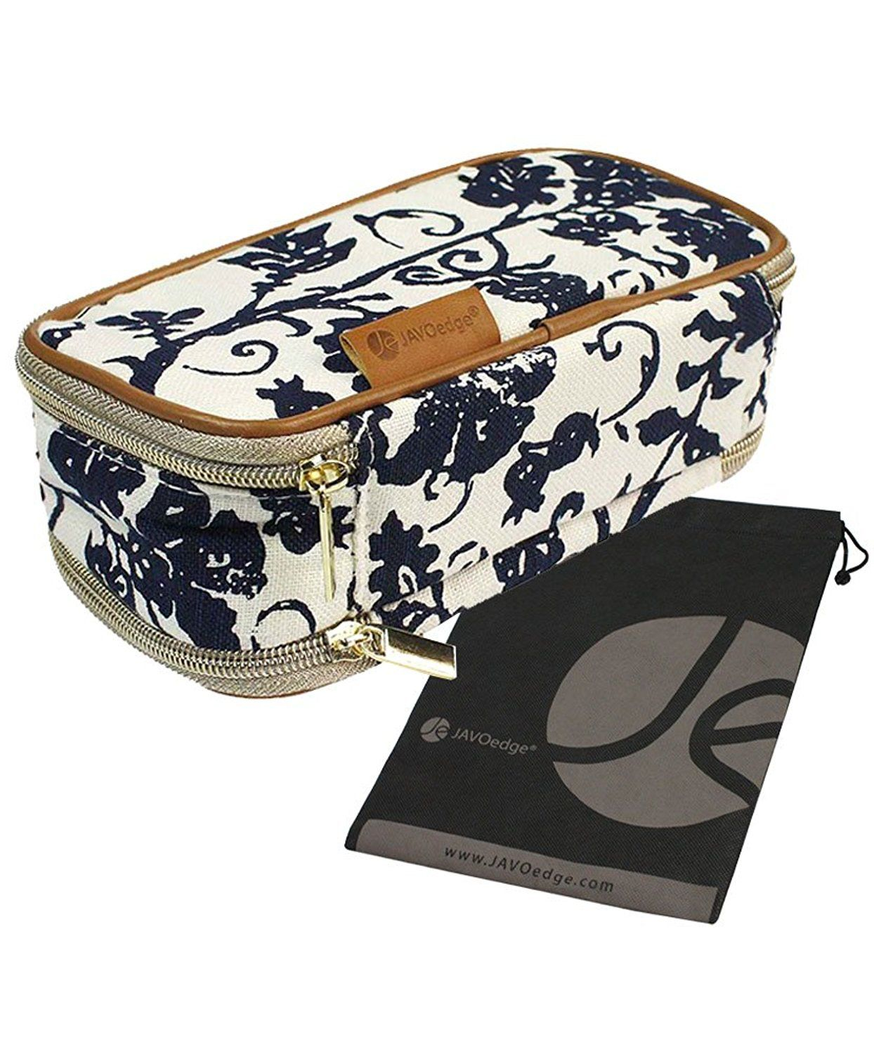 9bbb24b6439a Double-Sided Cosmetic Fabric Toiletry and Jewelry Bag Travel ...
