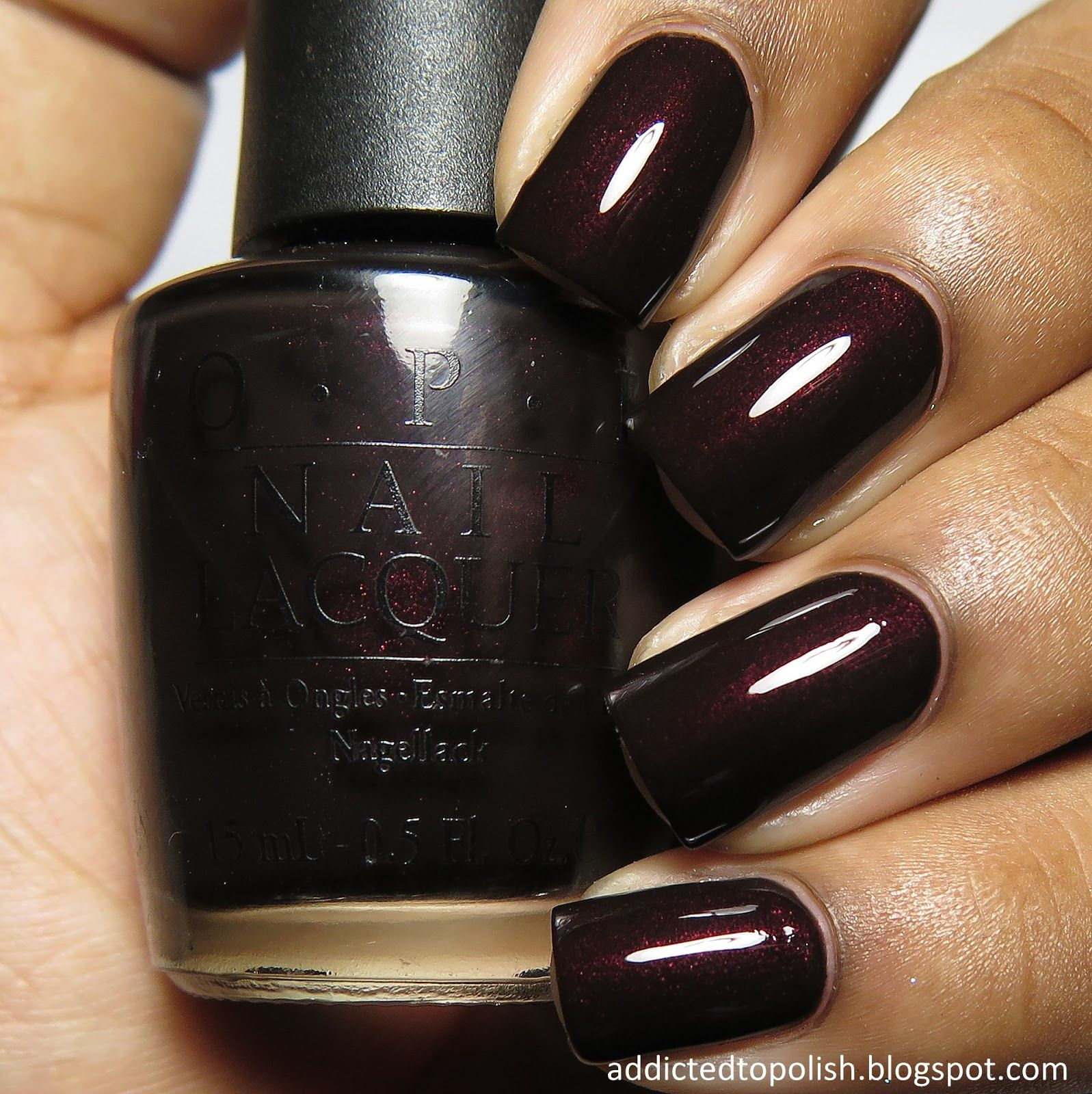 OPI Midnight in Moscow--I love this color!   Nails   Pinterest ...