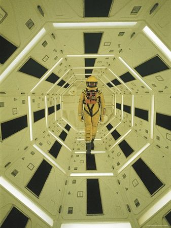 """Actor Gary Lockwood in Space Suit in Scene from Motion Picture """"2001: A Space Odyssey""""... mural in spare room"""