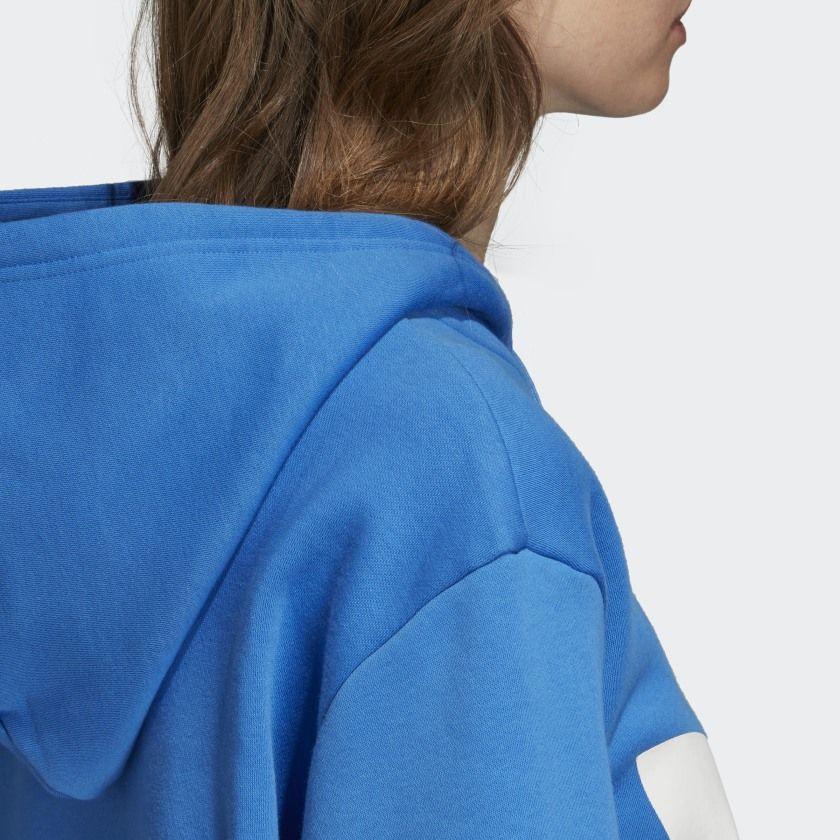 adidas Oversize Trefoil Hoodie – Blue | adidas US