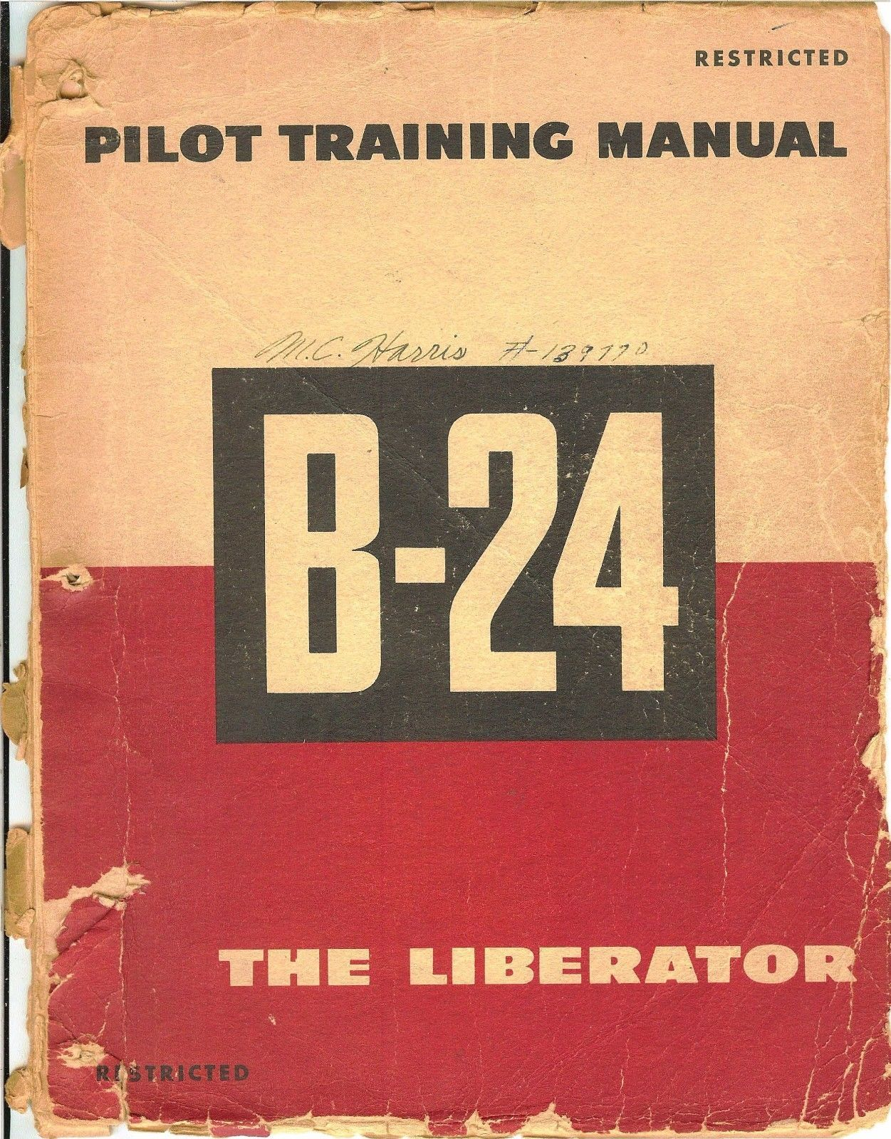 reprint wwii pilot training manual b 24 liberator 1944 military reprint wwii pilot training manual b 24 liberator 1944