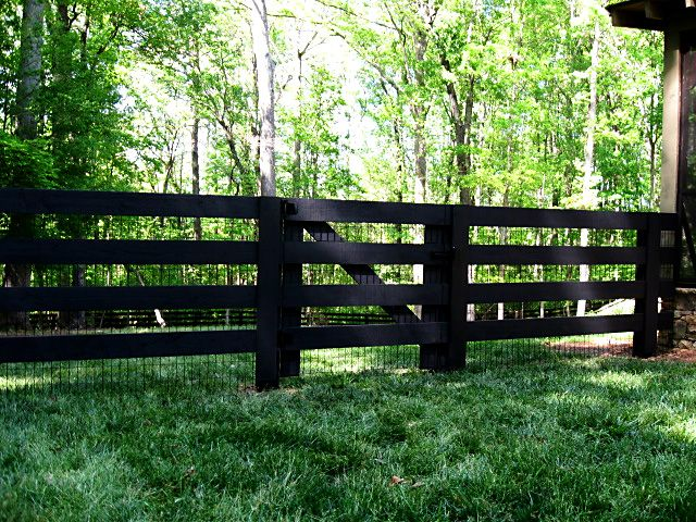 3 Or 4 Board Post And Rail Fence Backyard Fences Farm Fence Rustic Fence