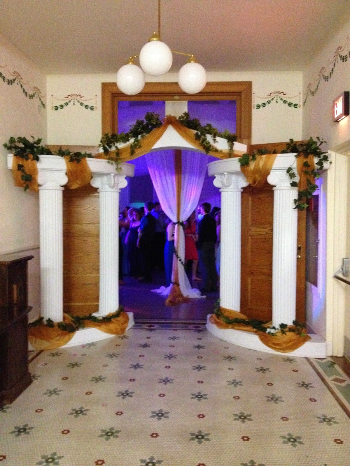Greek prom decorations party people celebration company for Room decor ideas with balloons