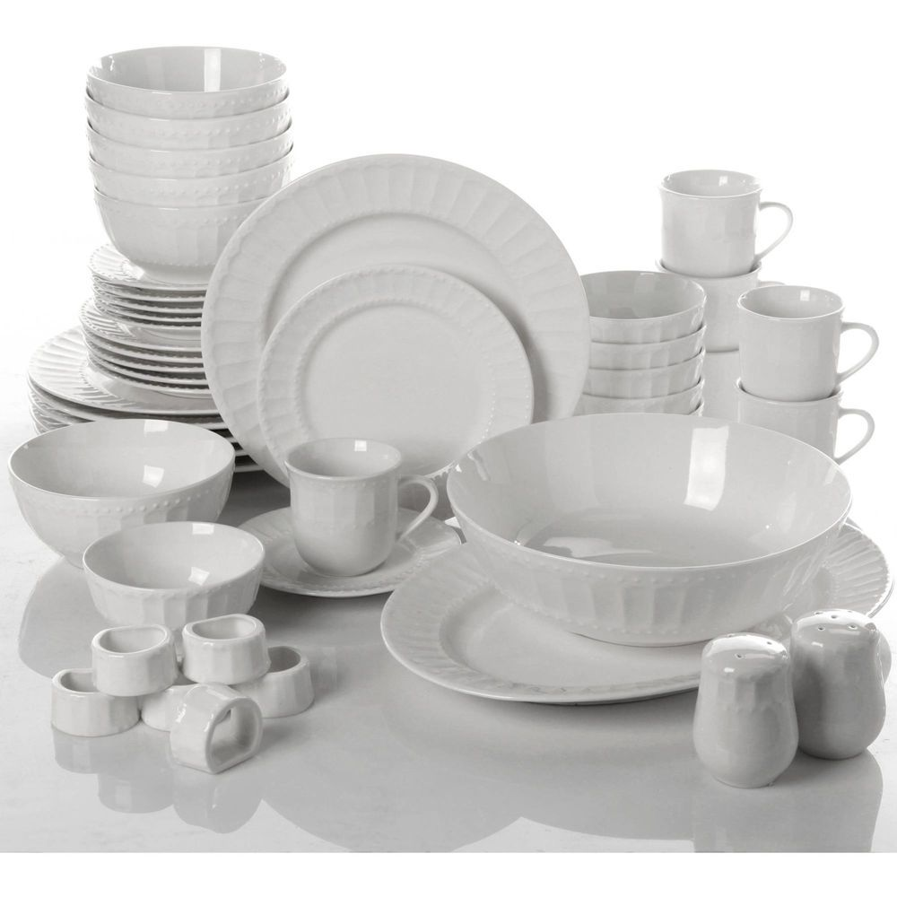 Gibson Home Regalia 46 Piece Dinnerware And Serveware Set Service