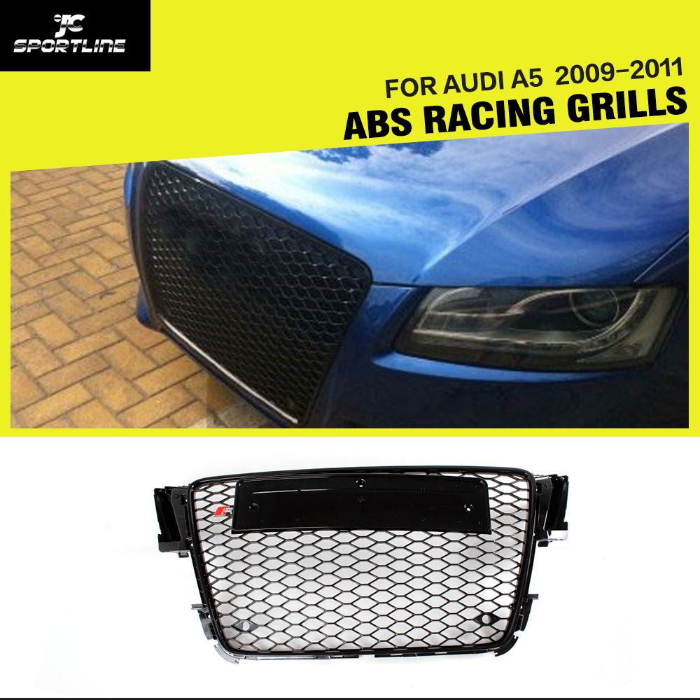 A5 Abs Black Painted Frame Mesh Grille Auto Grills For Audi S5 Power Steering Rack Mitsubishi Pajero Montero Sport Triton L200 Rs5