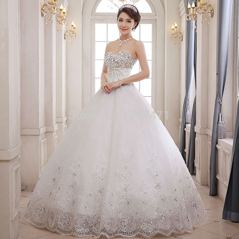 princess wedding dresses with diamonds and lace - Google Search ...