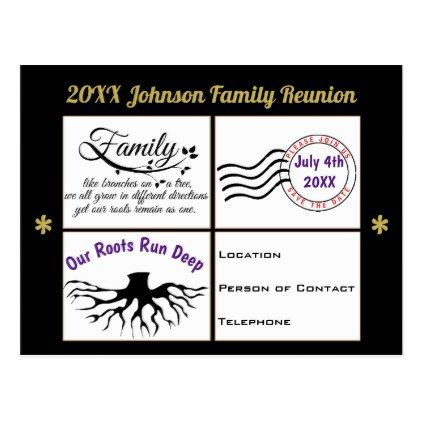 Custom Family Reunion Save the Date Invitation Postcard - postcard - invitations for family reunion