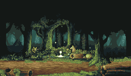 Loof Forest By Philippejugnet On Deviantart Pixel Art Landscape Pixel Art Games Pixel Art Background