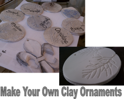Make your own DIY clay ornaments. Use them as name tags on presents and the dinner table for ...