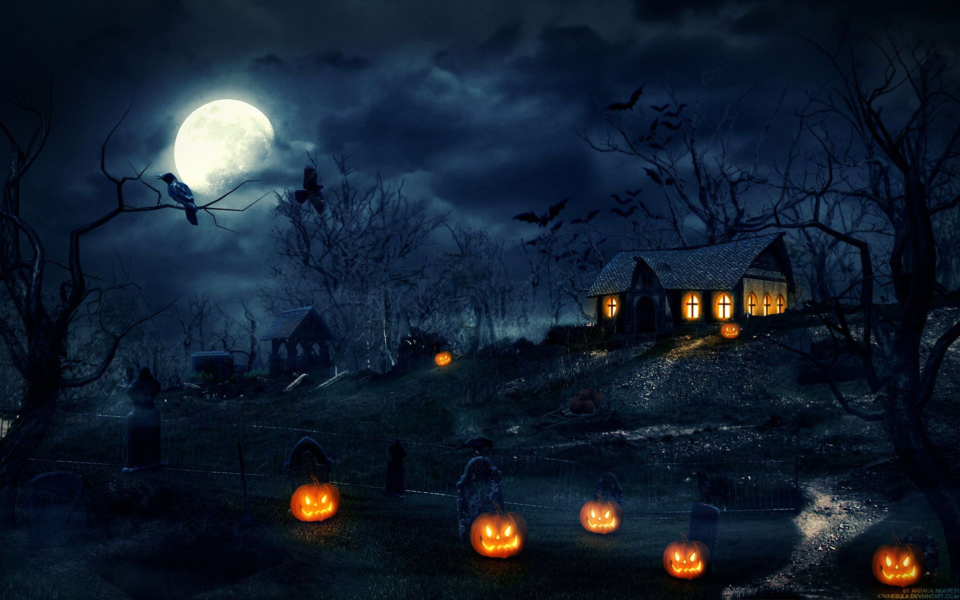 Free scary halloween backgrounds wallpaper collection 2014 12 incredible photoshop tutorials for beginners and advanced users all created in october baditri Choice Image