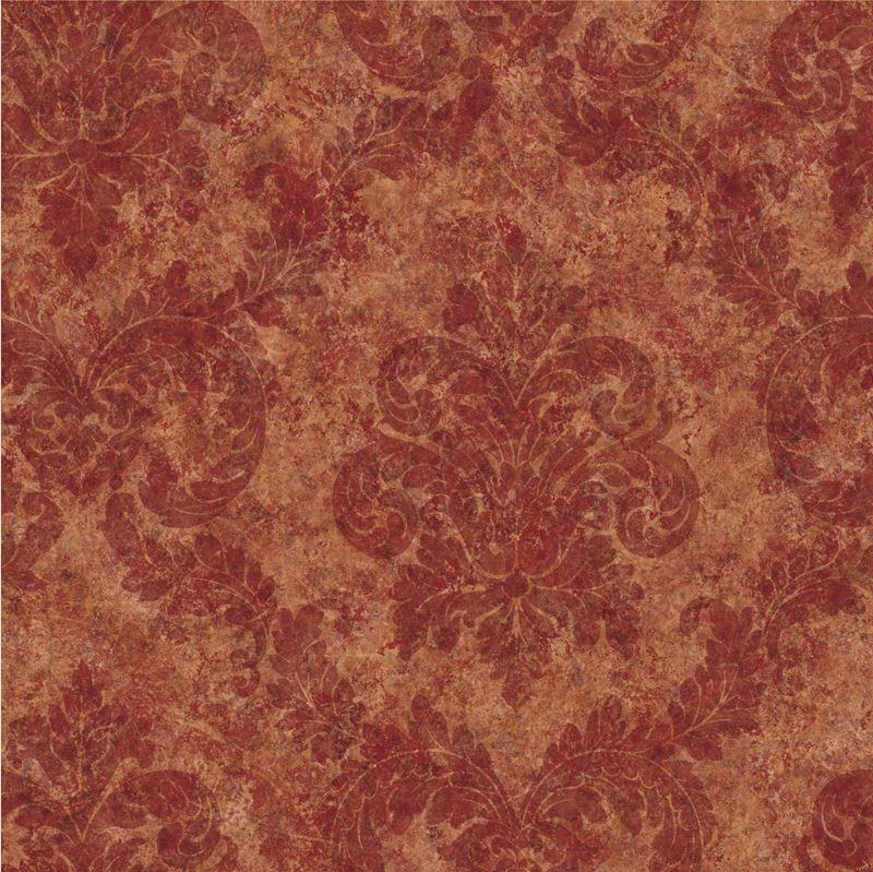 Brewster Wallpaper QE19164 Dark Red Dreamy Damask