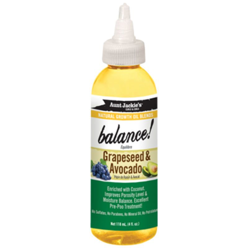 Aunt jackies balance grapeseed growth oil grapeseed