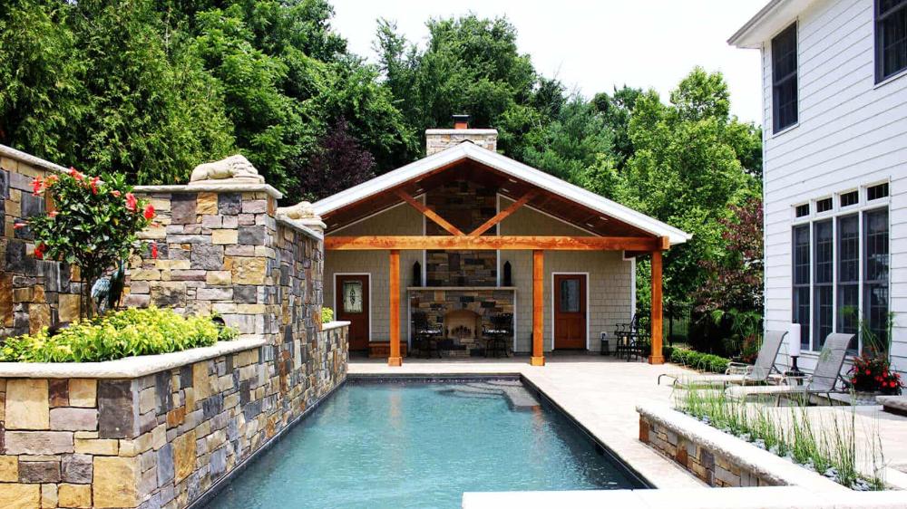 Most Beautiful Pool Houses That Feel Like Vacation In 2020 Pool House Designs Pool House Decor Pool House Plans