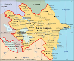 If You Live In A Large Industrialized Western Country And You Don T Travel Much Outside Your Own Borders You May Belie Azerbaijan World Thinking Day Baku Map