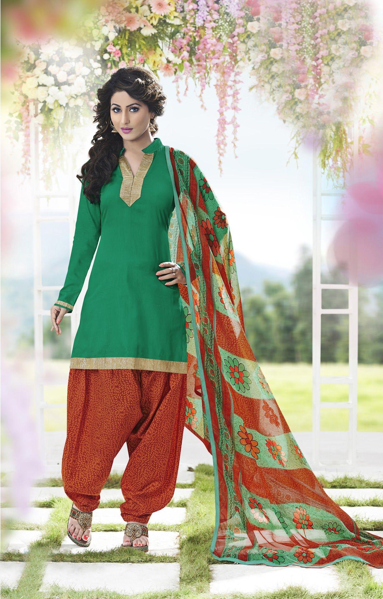 c34b9a35a5 Buy Gorgeous Green Patiala Salwar Kameez online at  https://www.a1designerwear.