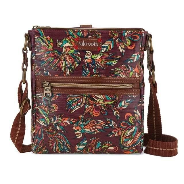 Happy #nationalhandbagday ! Check out our faves in our #printofthemonth #mulberry #treehouse! #sakroots #colorfulart