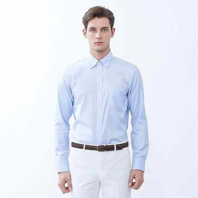 9eb30213e02 MEN Easy Care Slim Fit Oxford Long Sleeve Shirt - UNIQLO UK Online fashion  store