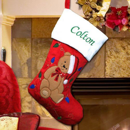 GiftsForYouNow Christmas Tree Personalized Stocking Embroidered 19