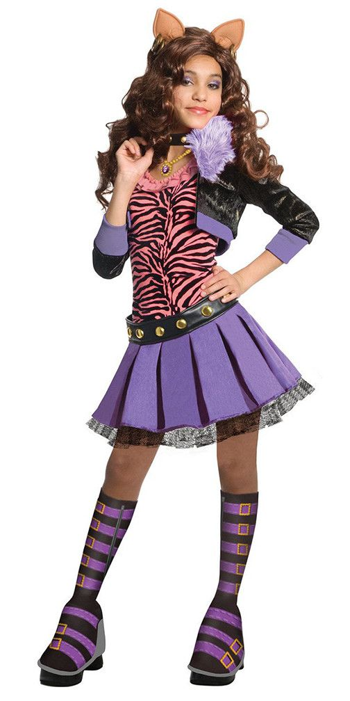 Monster High Clawdeen Costume - click for more Monster High Halloween costume ideas!  sc 1 st  Pinterest & Monster High Costumes and Makeup Kits Your Daughter Will Love ...