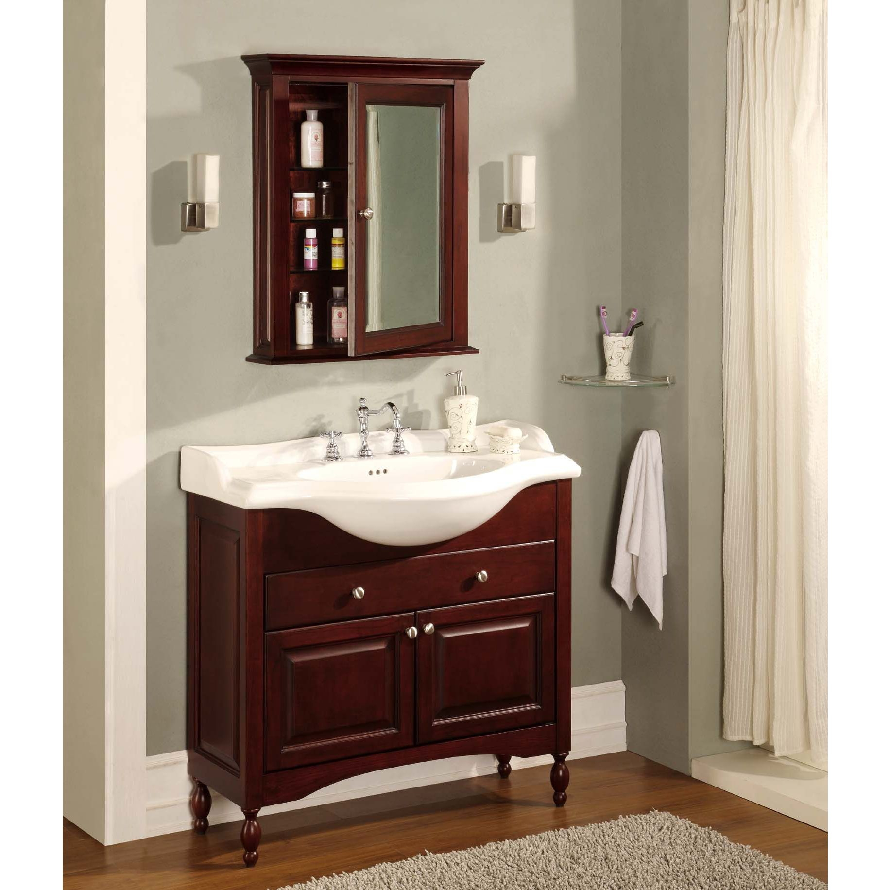 "Empire Industries Windsor 26"" 30"" 34"" Or 38"" Narrow Depth Enchanting Narrow Depth Bathroom Vanity Design Inspiration"