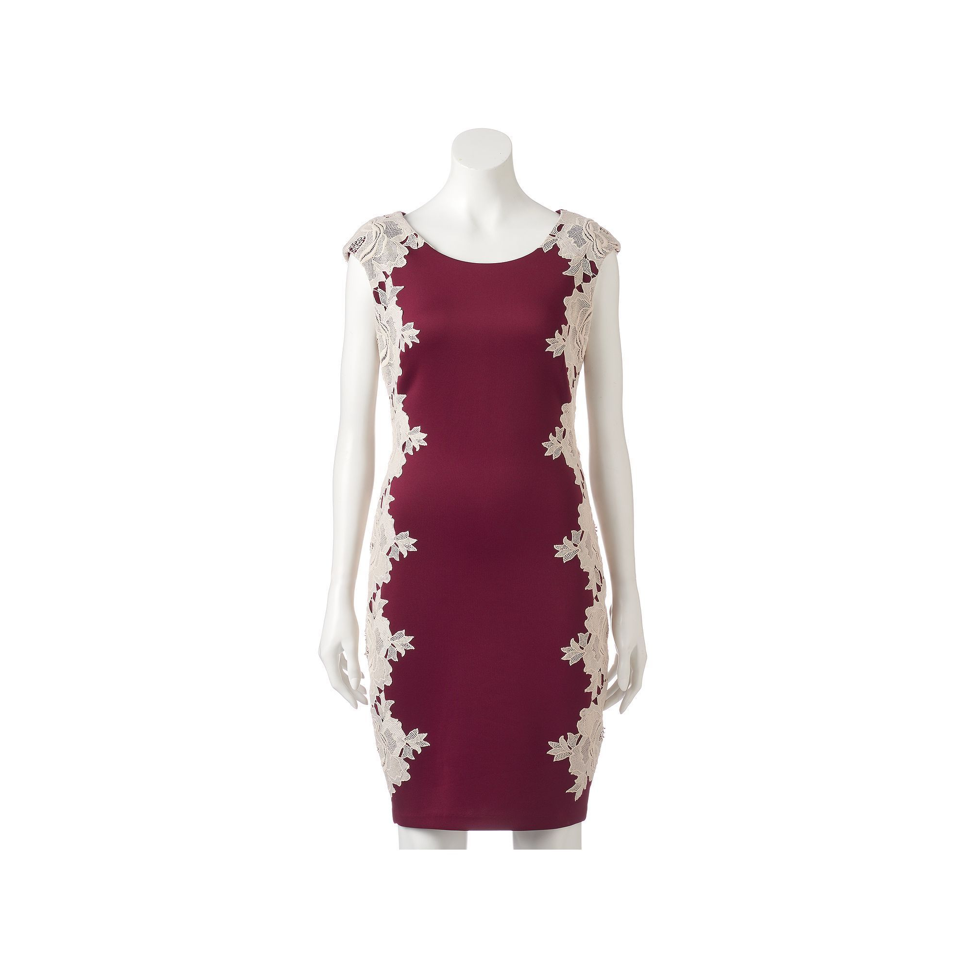 b5c61335 Women's Jax Floral Lace Sheath Dress, Size: 10, Dark Red   Products ...