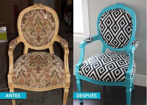 5 ideas para transformar o redecorar una silla antigua - Transformar muebles viejos ...