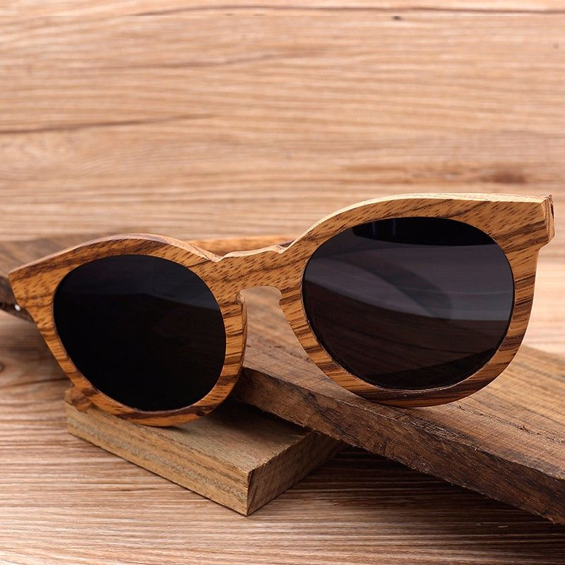 ac2abdde2f CATEYE VINTAGE WOODEN SUNGLASSES IN WOODEN BOX For Mens Women Handmade  Design Wood Frame Outfit Case Eyewear Shades Accessories Summer Awesome  Outlets ...
