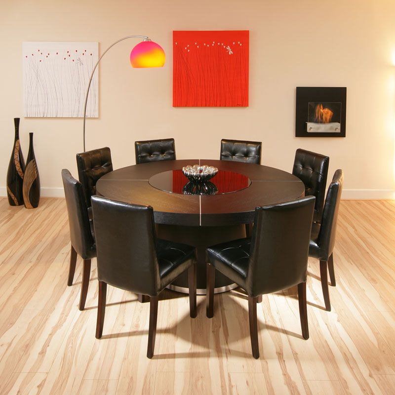 Amusing Large Round Oak Table And Chairs  Dining Table Ideas Delectable Size Of Dining Room Table For 10 Review