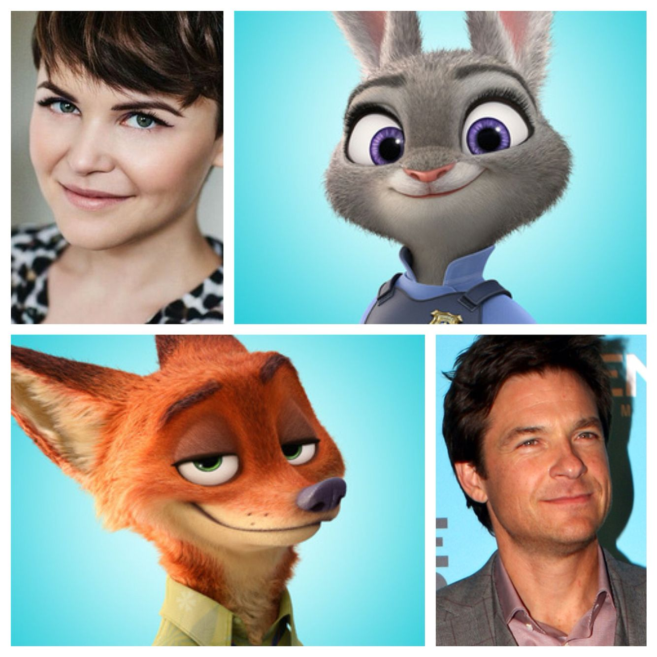 Zootopia Can We Just Appreciate The Similarities Between The Characters And Voice Actors For A Moment I Mean Nick Wilde Is Jason Bateman
