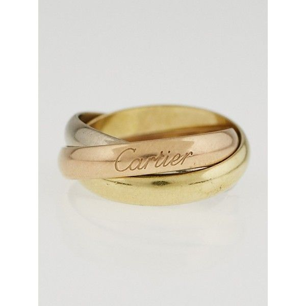 Preowned Cartier 18k TriGold Trinity Small Ring 50 495