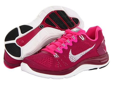b556009f335 Nike Lunarglide+ 5 Raspberry Red Pink Foil Summit White - Zappos.com Free  Shipping BOTH Ways